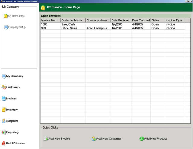 PC Invoice Pro Edition Screenshot 1