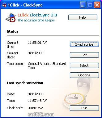 1Click Clocksync Screenshot 2