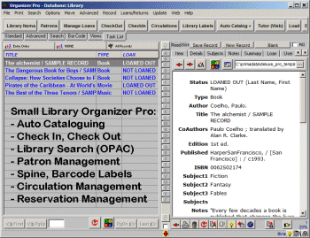 Small Library Organizer Pro Screenshot 1