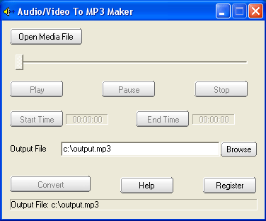 Audio/Video To MP3 Maker Screenshot 1