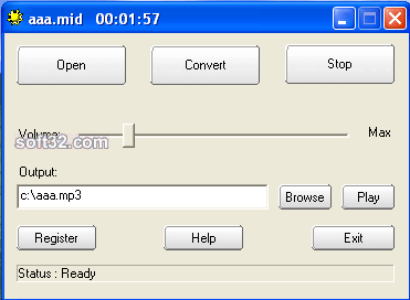 MIDI To MP3 Maker Screenshot 2