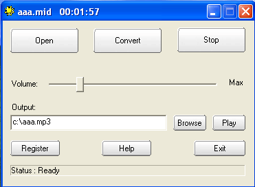 MIDI To MP3 Maker Screenshot