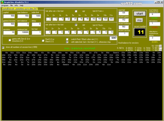 SimpleSim 4 Roulette Screenshot 3