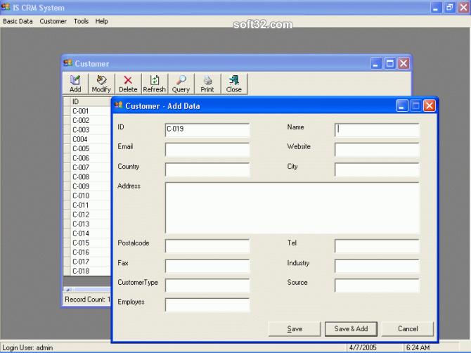 Igoodsoft CRM System Screenshot