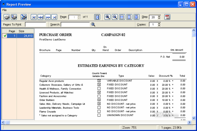 MBA Software for Avon Reps Screenshot 7
